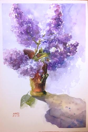 Lilacs & copper