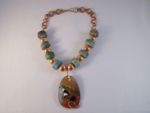 Gem Silica and Copper Necklace