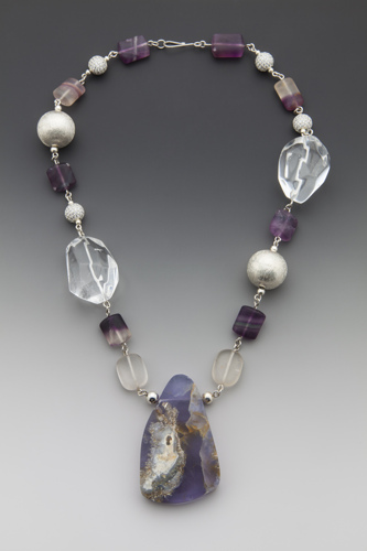 Iolite and Rock Chrystal Necklace