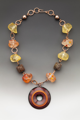 Resin and Copper Necklace by Rodney Casebier