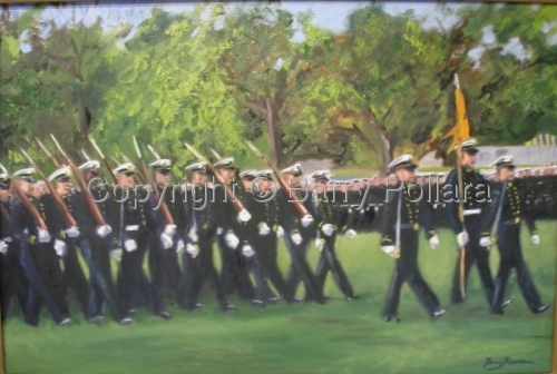 USNA Homecoming Parade 2002 #2 by Barry Pollara Art