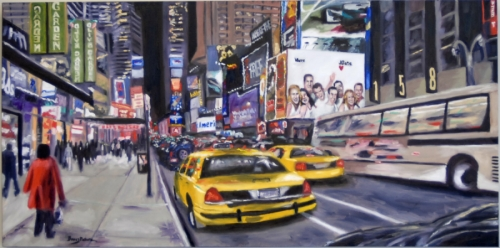 Times Square at Night by Barry Pollara Art