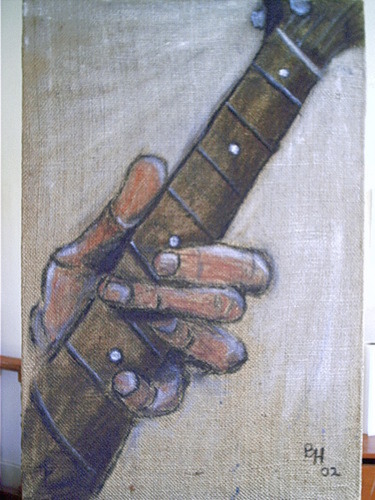 "color study for ""Fingers & Fretboard"""
