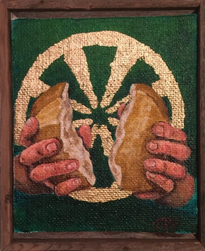 The Holy Eucharist Triptych. Panel 1: Bread