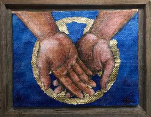The Holy Eucharist Triptych. Panel 2: Receiving