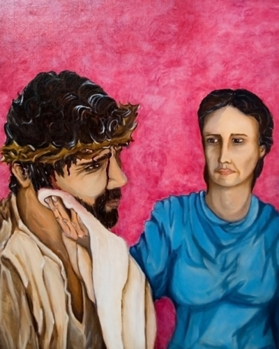 Station VI: A Woman Wipes the Face of Jesus