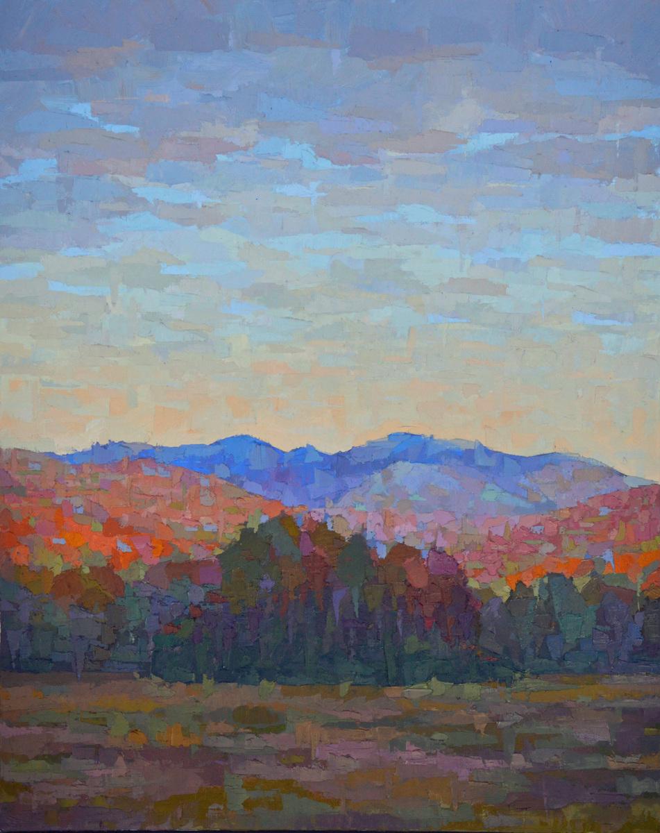 Setting Sun, Adirondack Mountains (large view)