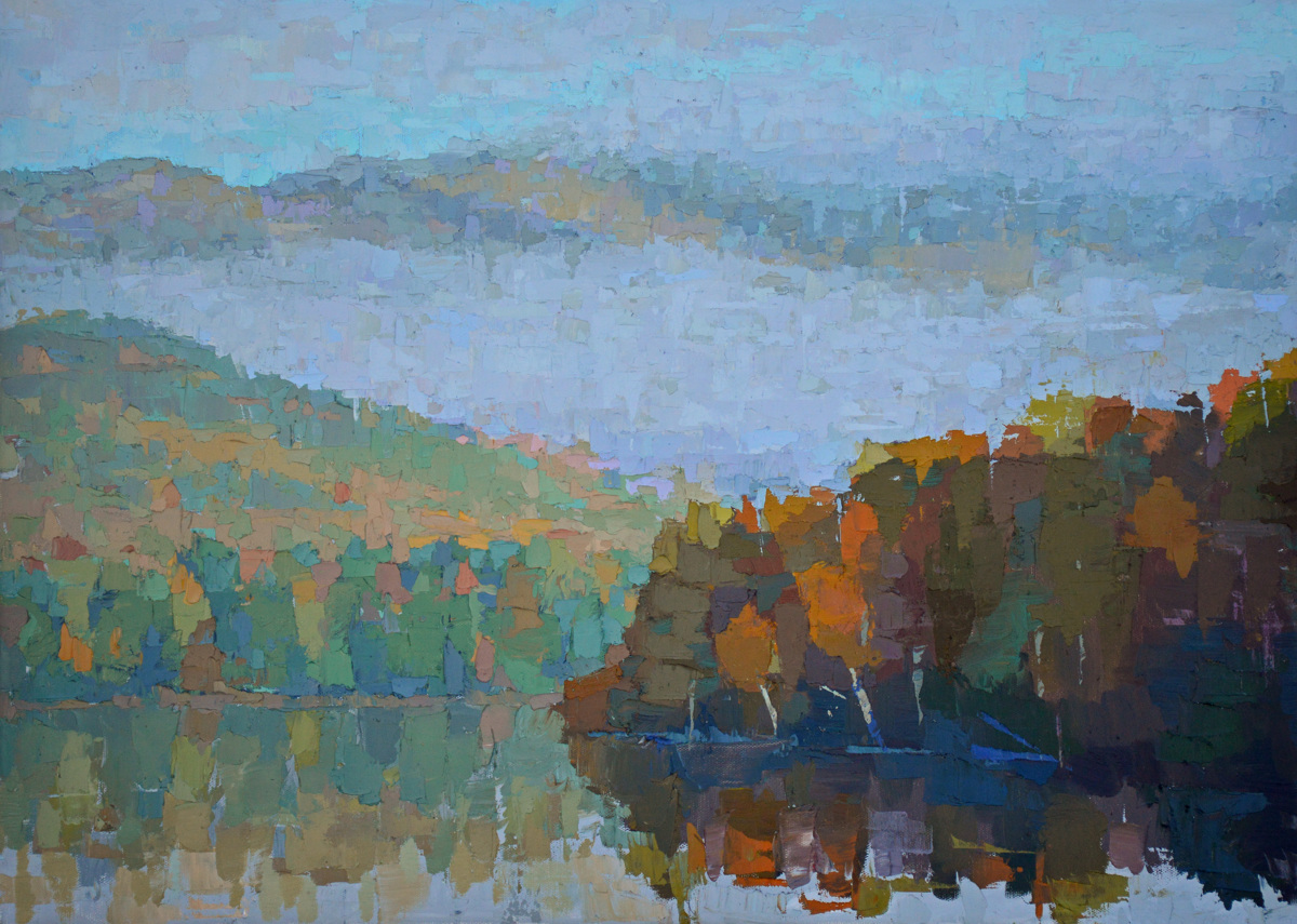 Misty Morning on Androscoggin River (large view)