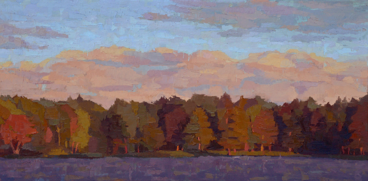 Late Afternoon on Knights Pond (large view)