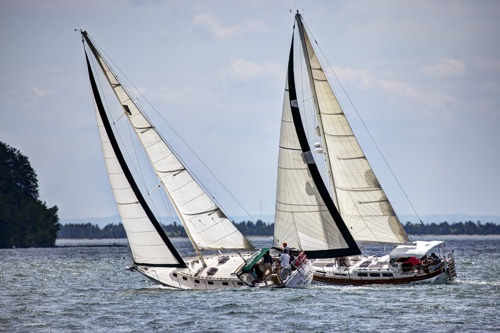 Yacht Race on Lake Superior by Brian D. Robb