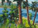View Through Trees to Mount Desert (thumbnail)