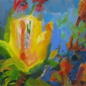 Yellow Abstracted Flower (thumbnail)