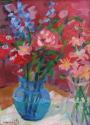 Bouquet with Blue Vase (thumbnail)