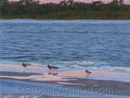 Oystercatchers by Brooks Art NC.Com