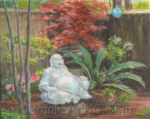 Buddha in the Garden, from the 2016 Azalea Garden Tour
