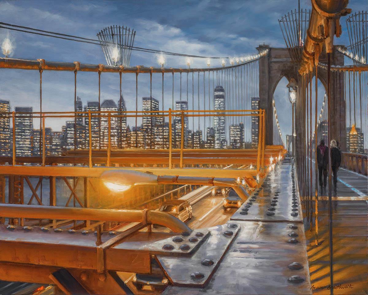 Brooklyn Bridge Dusk (large view)