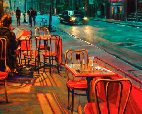 Red Chairs in the Village