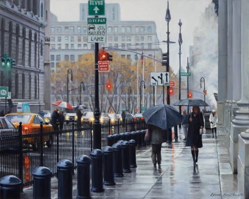 Manhattan Rains (large view)