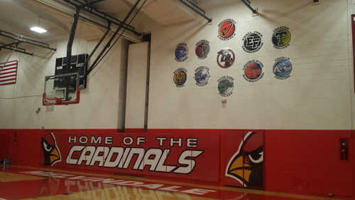 Melvindale South Wall Mattes and Downriver Con. Logos