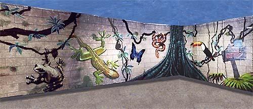 Hallway Wall Facing Treefrog Wall