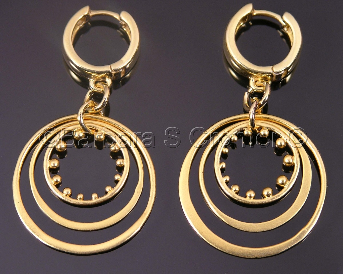 Vermeil circles, circles and more circles earrings (large view)