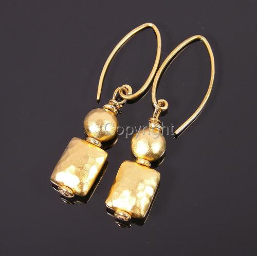 Matte vermeil geometric earrings (large view)