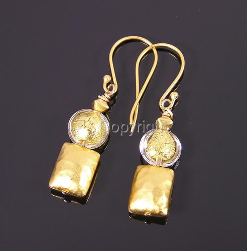 Vermeil + golden Venetian earrings