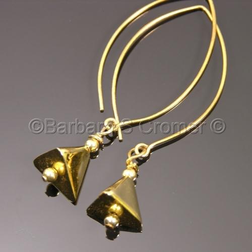 Vermeil pyramids earrings
