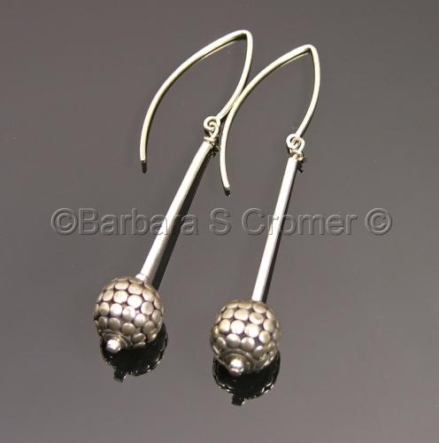 Bali silver orbs earrings