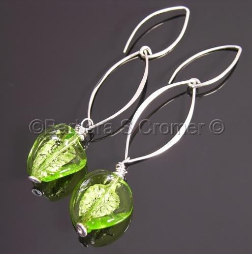 Luscious Venetian lime twist earrings