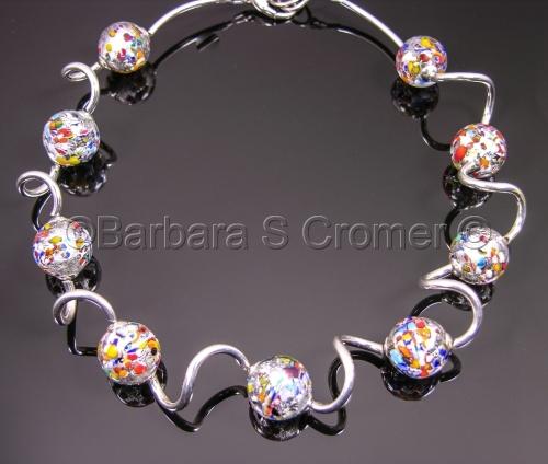 Silver Klimt Venetian necklace