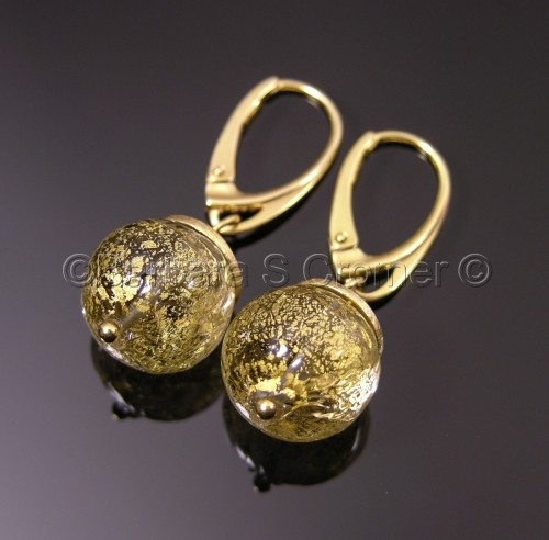 Golden Venetian orb earrings