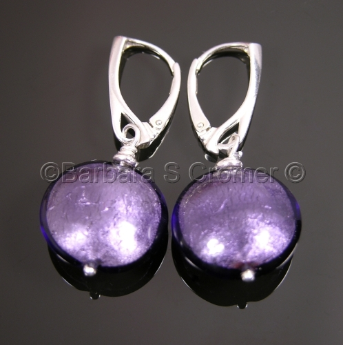 Purely purple Venetian earrings