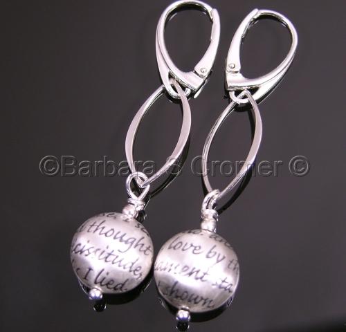 Love sonnet earrings