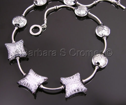 Silver Venetian Murano necklace