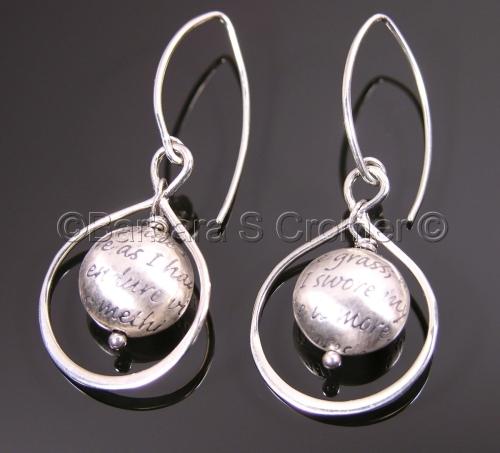 Silver Infinity of Love sonnet earrings