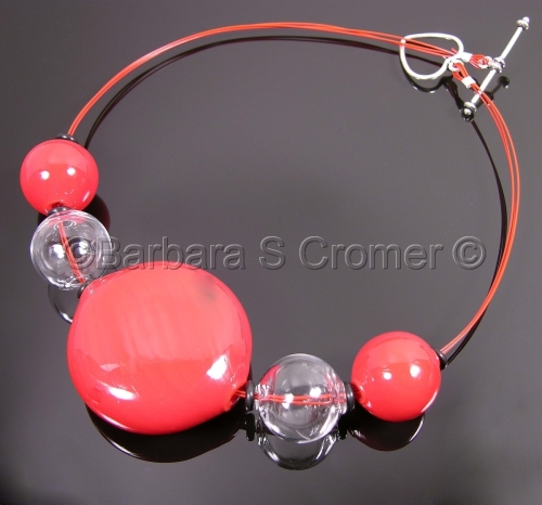Passionately red Venetian necklace by Barbara Cromer