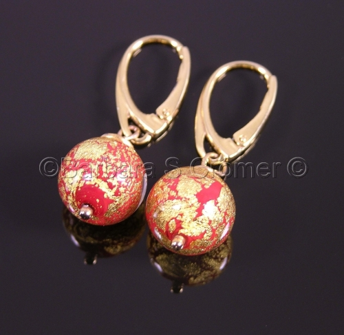Red Ca' D'oro earrings