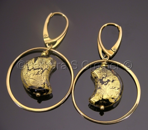 Vermeil circles round the Ca'd 'Oro moon earrings