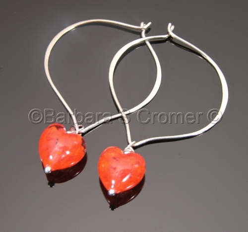Red Venetian nuvola hearts