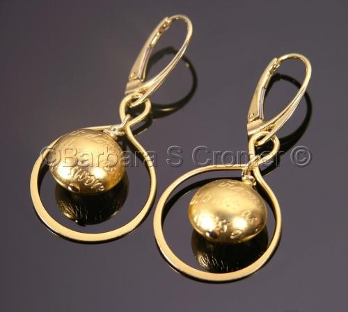Infinity of love Vermeil earrings