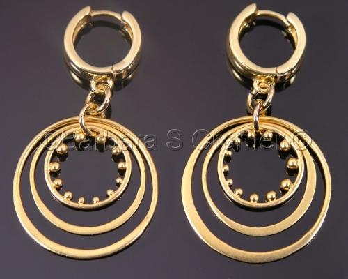 Vermeil circles, circles and more circles earrings