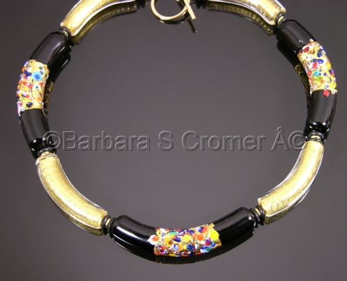 Klimt Golden Venetian necklace