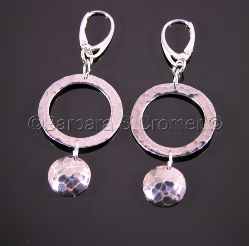 Silver rings and round charms