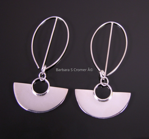 Silver arcs earrings (large view)
