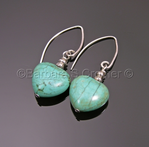 Turquoise hearts of stone, petite