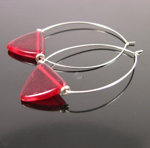 ruby Fulani triangle earrings