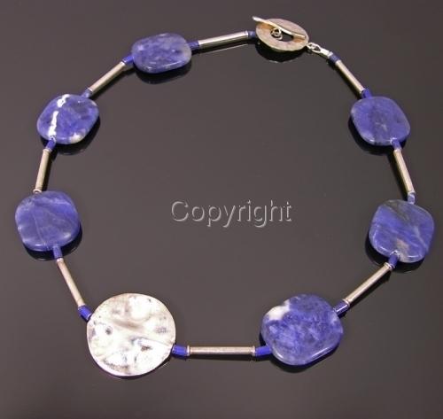 Lapis lazuli + Thai silver necklace