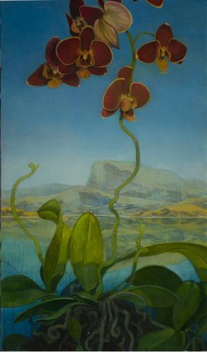 Painting-Oil-Orchids Landscape
