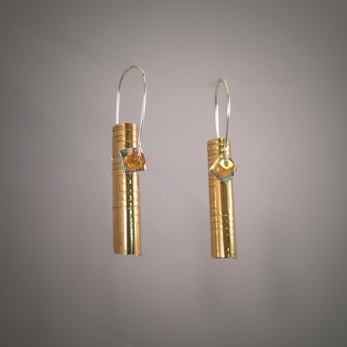 Honey Stiletto Swing Pendulum Earrings (large view)